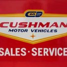 CUSHMAN MOTOR VEHICLES SALES SERVICE SIGN C