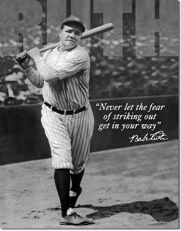 BABE RUTH TIN SIGN RETRO METAL ADV SIGNS I