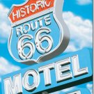 ROUTE 66 MOTEL TIN SIGN RETRO METAL ADV SIGNS I