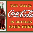 ICE COLD COCA-COLA TIN SIGN COKE ADV BAR STORE SIGNS C