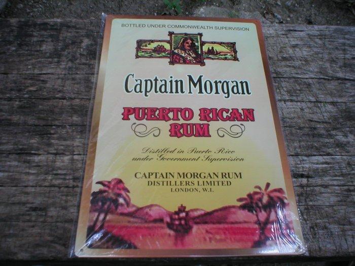 CAPTAIN MORGAN PUERTO RICAN RUM TIN SIGN
