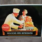 DRINK COCA-COLA TIN SIGN COKE ADV BAR STORE SIGNS C