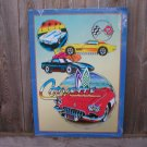 CORVETTE COLLAGE TIN SIGN CHEVROLET METAL SIGNS C