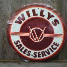 WILLYS TIN SIGN METAL ADV AD SIGNS W