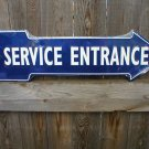SERVICE ENTRANCE ARROW  SIGN RETRO METAL ADV SIGNS F