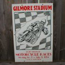 GILMORE STADIUM MOTORCYCLE RACES SIGN G