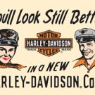 HARLEY DAVIDSON MOTORCYCLE CAPS SIGN METAL ADV SIGNS H