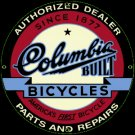 COLUMBIA BICYCLES SIGN PORCELAIN-COATED RETRO ADV SIGNS C