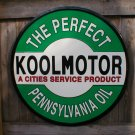 "KOOLMOTOR PENNSYVANIA OIL 24"" TIN SIGN METAL ADV AD SIGNS P"