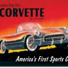 1953 CORVETTE TIN SIGN METAL RETRO ADV SIGNS C