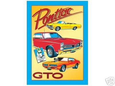 GTO PONTIAC RETRO TIN SIGN