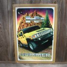 THE HUMMER YELLOW TIN SIGN METAL ADV SIGNS H