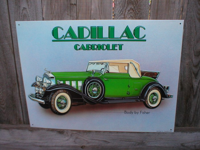 CADILLAC CABRIOLET TIN SIGN