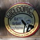 WELCOME TIN SIGN METAL ADV AD SIGNS W