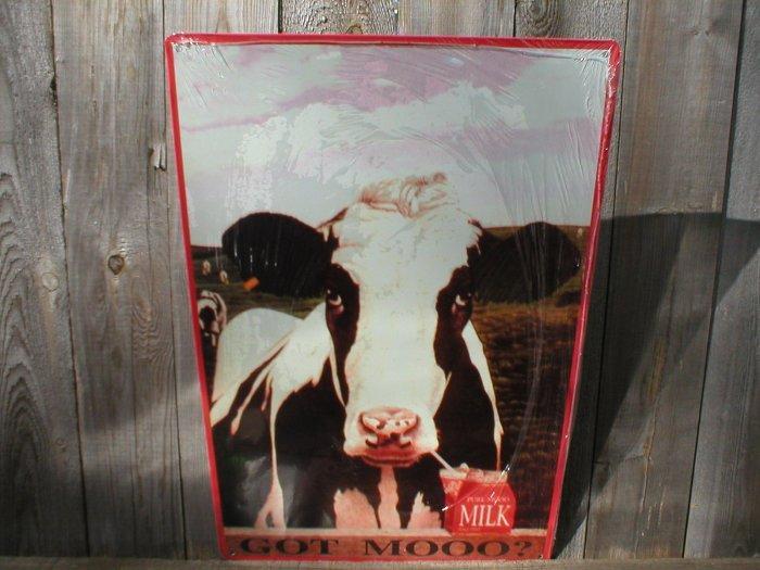 COW TIN SIGN METAL RETRO ADV SIGNS C