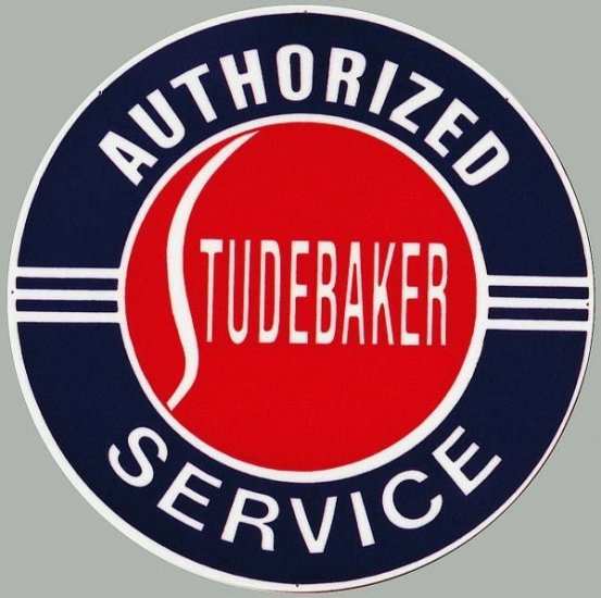 STUDEBAKER AUTHORIZED SERVICE SIGN METAL ADV AD SIGNS S
