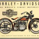 HARLEY DAVIDSON BIG TWIN MOTORCYCLE TIN SIGN
