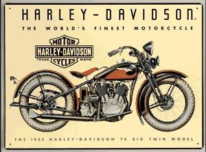 HARLEY DAVIDSON BIG TWIN MOTORCYCLE TIN SIGN