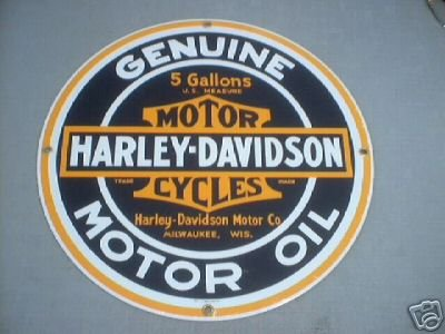 HARLEY DAVIDSON MOTOR OIL SIGN