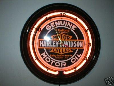 HARLEY DAVIDSON NEON CLOCK BAR SIGN