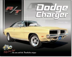 1969 DODGE CHARGER MUSCLE CAR TIN SIGN