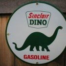 SINCLAIR DINO GASOLINE PORCELAIN COAT SIGN
