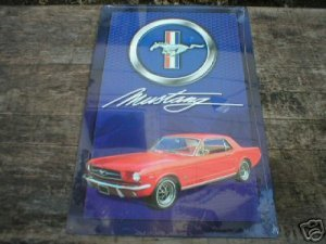 MUSTANG RETRO TIN SIGN