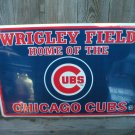 WRIGLEY FIELD CHICAGO CUBS TIN SIGN
