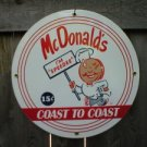 MC DONALDS PORCELAIN COAT SIGN