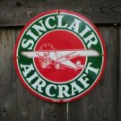 SINCLAIR AIRCRAFT PORCELAIN-COATED SIGN