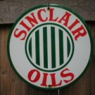 SINCLAIR STRIPES PORCELAIN-COATED SIGN