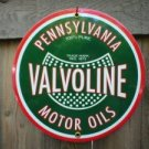 VALVOLINE OIL PORCELAIN-COATED SIGN