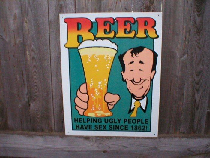 BEER TIN RETRO SIGN