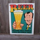BEER TIN RETRO SIGN