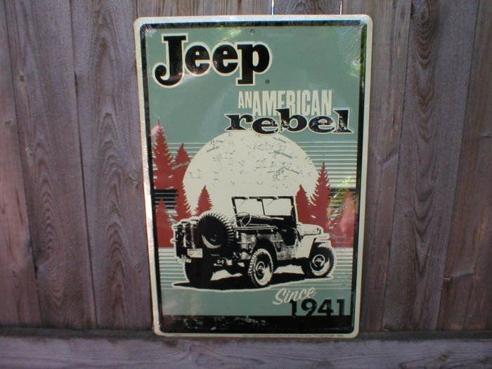 JEEP REBEL 1941 TIN SIGN
