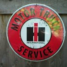 INTERNATIONAL MOTOR TRUCK SERVICE ROUND SIGN