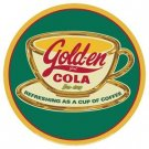 GOLDEN COLA COFFEE TIN SIGN