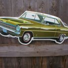 CHEVROLET NOVA DIECUT TIN SIGN