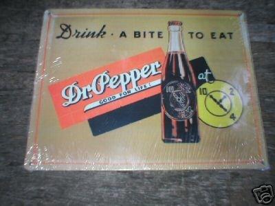 DR PEPPER TIN SIGN