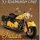 INDIAN MOTORCYCLES 1953 TIN SIGN