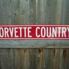 CORVETTE HEAVY STEEL SIGN