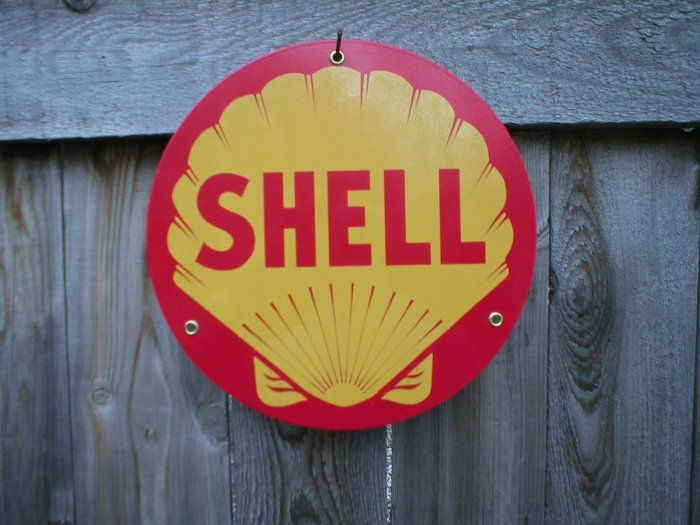 SHELL PORCELAIN-COAT SIGN