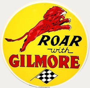 "ROAR WITH GILMORE 24"" TIN SIGN"