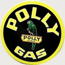 POLLY GAS ROUND TIN SIGN
