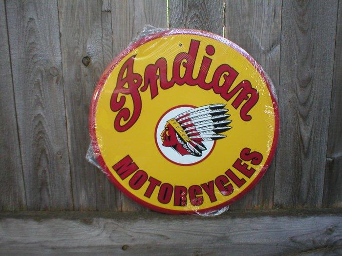 """INDIAN MOTORCYCLES 24"""" TIN SIGN"""