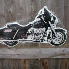 BLACK MOTORCYCLE DIECUT TIN SIGN