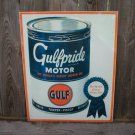 GULFPRIDE MOTOR OIL TIN SIGN