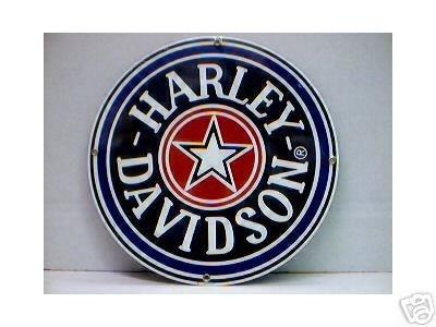 HARLEY DAVIDSON FATBOY PORCELAIN COATED SIGN
