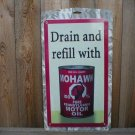 MOHAWK GASOLINE METAL TIN SIGN