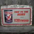 FLEETWOOD MOTOR OIL TIN METAL SIGN